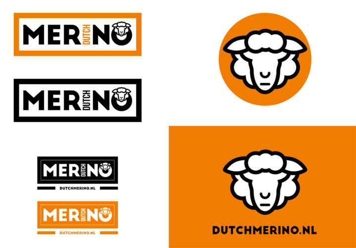 Dutch Merino logo-ontwerp