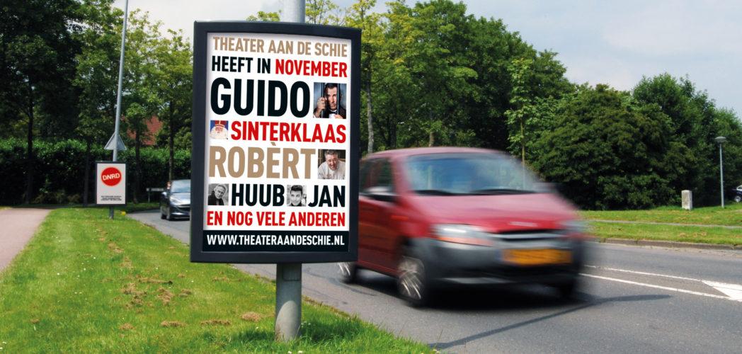 Maandelijkse poster-campagne Theater aan de Schie