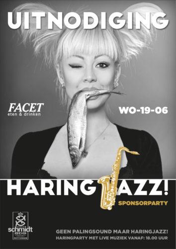 Uitnodiging haring-jazz-party in het kader van Jazzfestival Hillegersberg