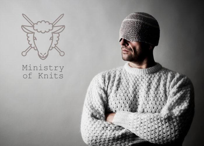 Logo en huisstijl Ministry of Knits, duurzame breiconcepten