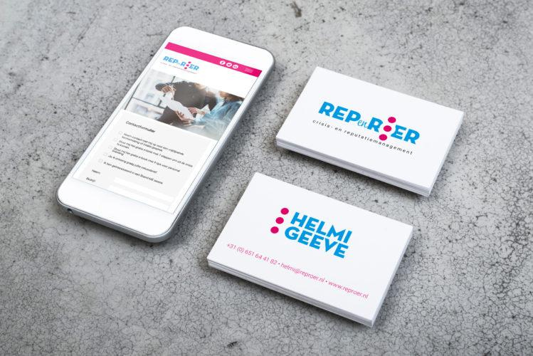 Ontwerp logo, huisstijl, website en andere middelen  Rep en Roer, crisismanagement